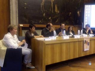 """Vittorio Schieroni moderatore della tavola rotonda """"Arte e Gioco"""" alla Biblioteca Sormani"""