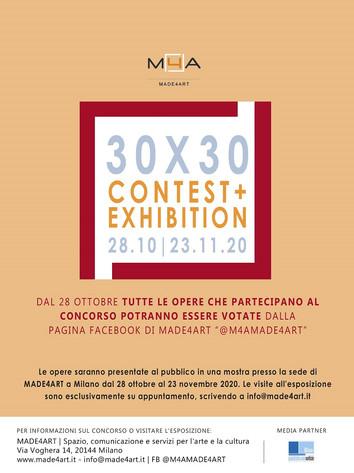 """Da MADE4ART contest ed esposizione """"30x30"""""""
