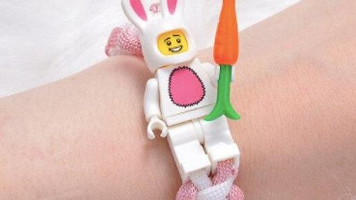 Easter Bunny Minifigure Bracelet