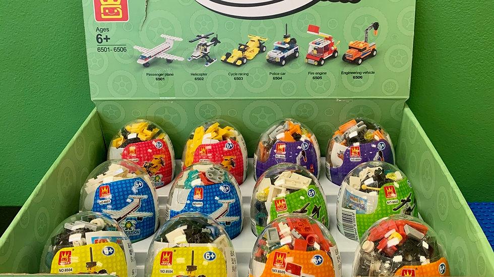 Mini Transportation Brick Building Egg