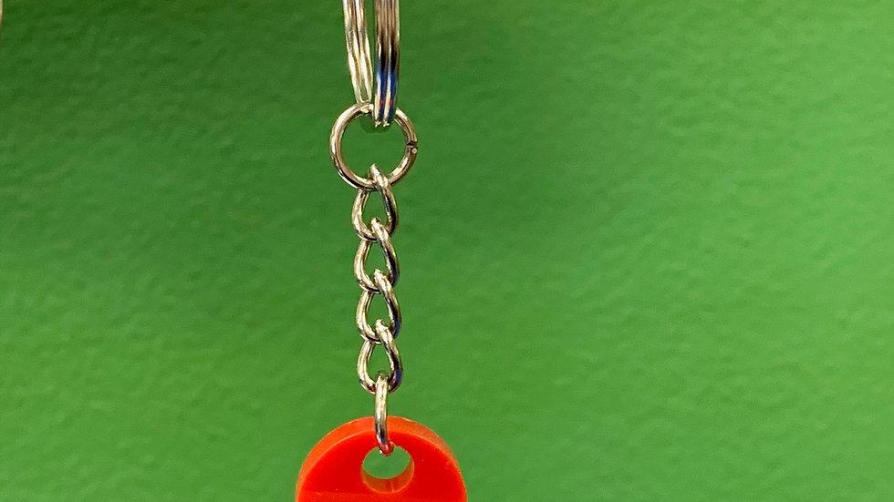 Brick Heart Keychain