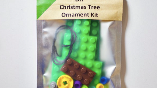 DIY Brick Christmas Tree Ornament