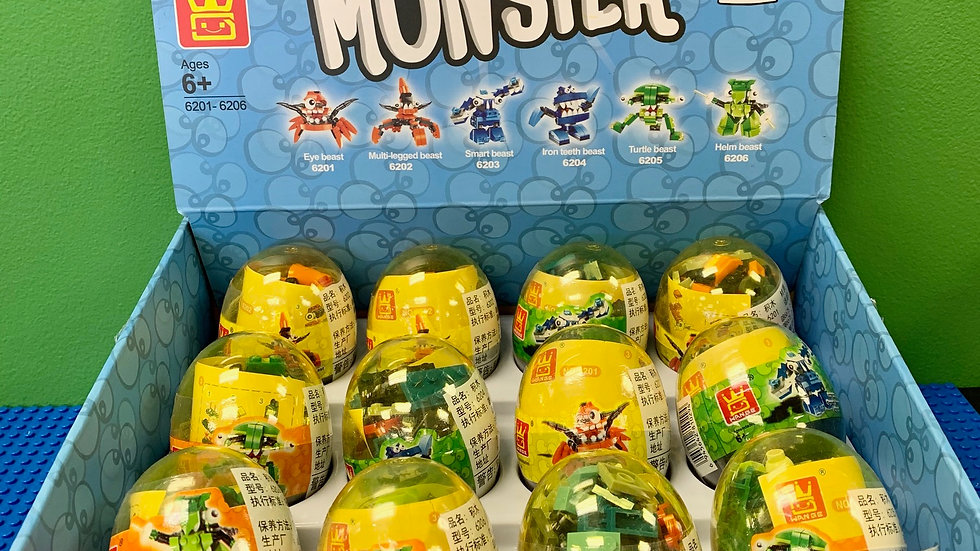 Monster Brick Building Egg