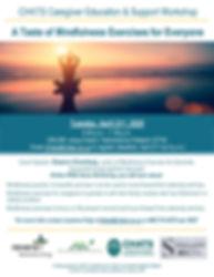 Flyer A Taste of Mindfulness Exercsises