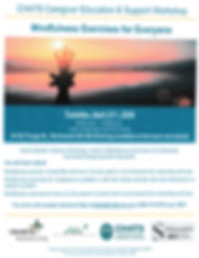 Flyer Mindfulness for Everyone Chats 202