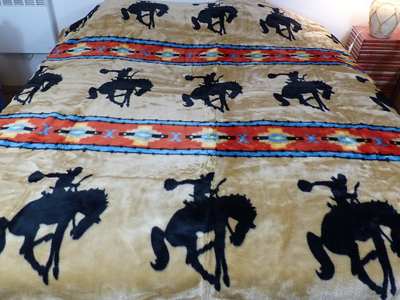 Couverture motif Bucking Horse