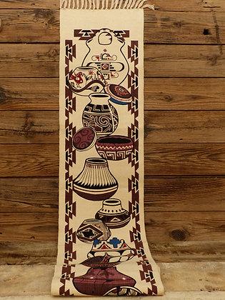 Chemin de table en coton tissé et imprimé