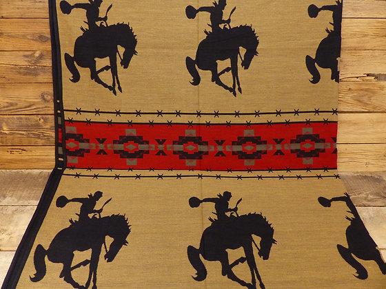 Couverture / Couvre Lit réversible motif Bucking Horse