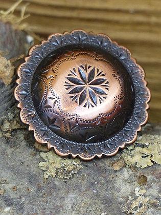 Concho cuivre fleur fine centrale