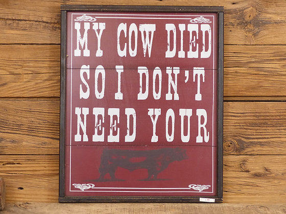 Panneau en bois My Cow