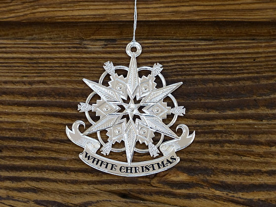 Boule de Noël Plaquée Argent White Christmas