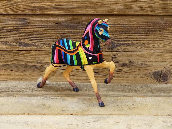 Couverture pour cheval de poupée