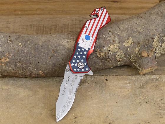 Couteau métal American Flag