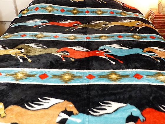 Couverture motif Cheval au Gallop