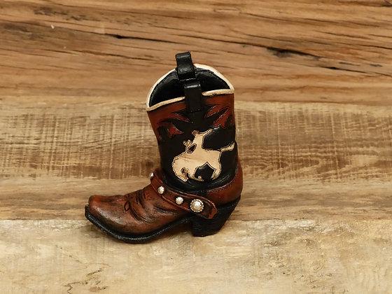 Botte porte stylos motif Bucking Horse