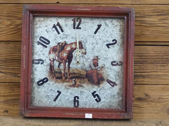 Pendule Cowboy et Paint Horse