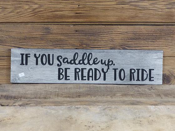 Panneau en bois Be Ready to ride