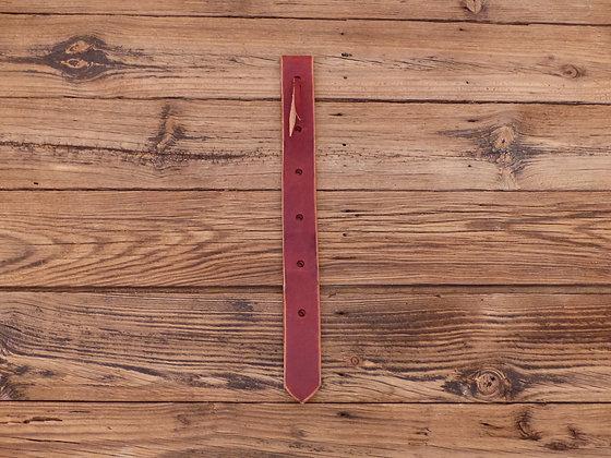 Lanières de sanglage en cuir pour selle western
