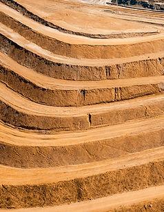open pit bench contours at mine site