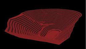 3D image open pit mine design opencontou
