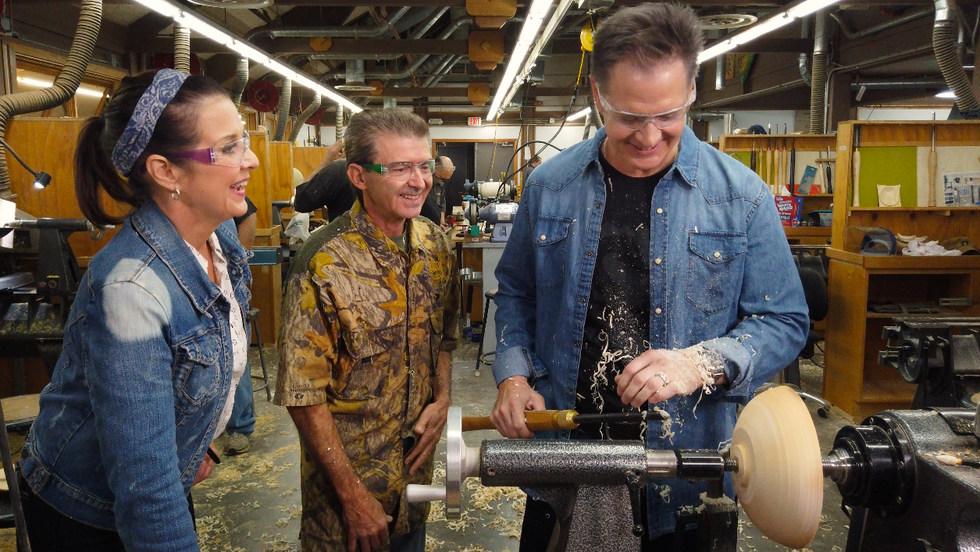 Turning wood at Arrowmont