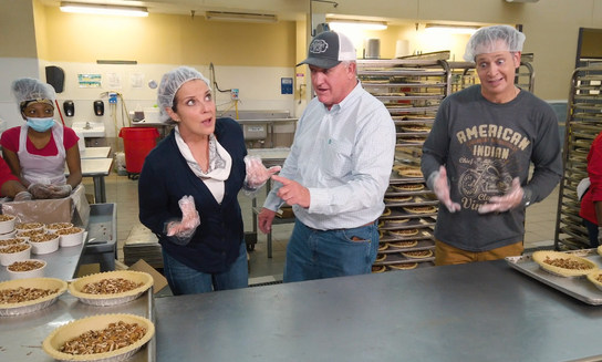 Which one of us do you think makes a better pecan pie?