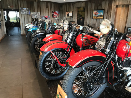 Pretty maids all in a row...Knuckle head Harleys from '36 to '46