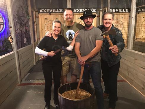Throwing axes at Axeville in Asheville, NC