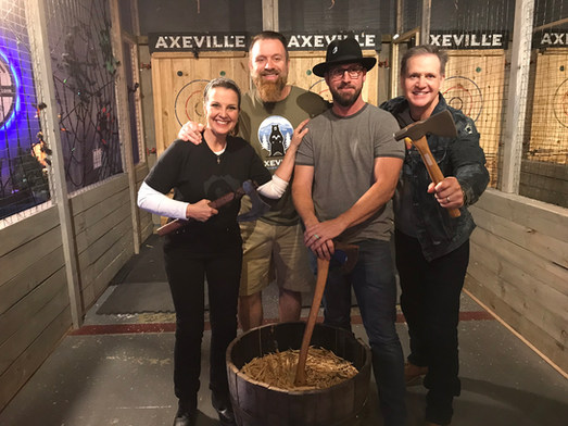 Throwing axes at Axeville in Asheville, NC