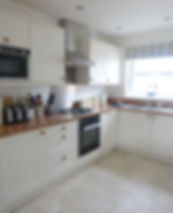 Kitchen at Kittiwake Cottage Filey on the Bay resort. Well equipped.