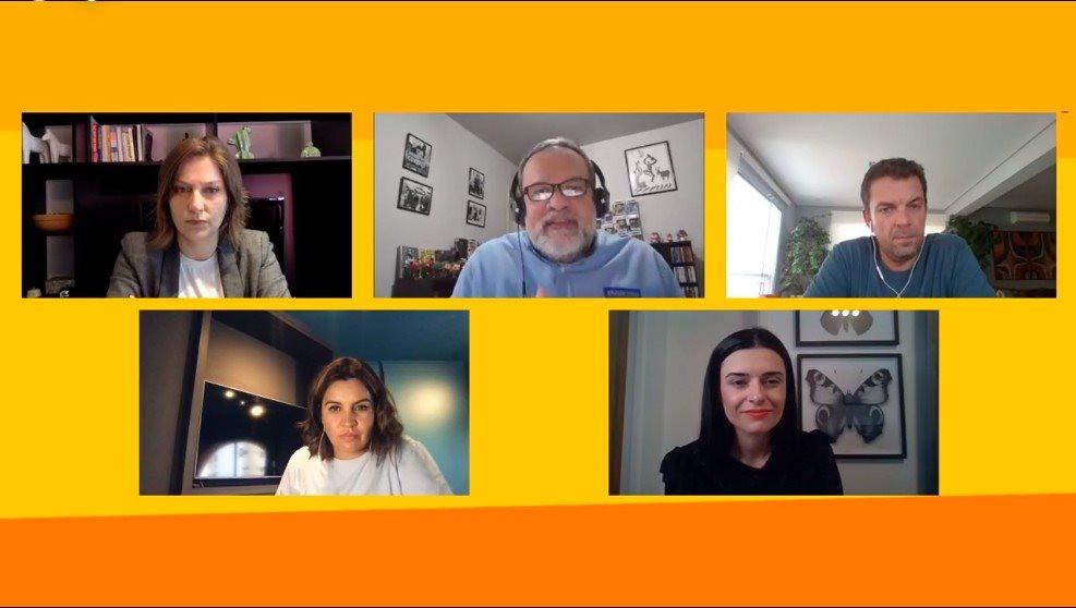 Participaram da live Carolina Sass (TRVL LAB), Artur Andrade (PANROTAS), Marcelo Marques (ELO), Renata Esteves (CVC) e Sabrina Salgado (Latam)