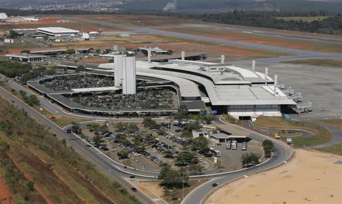 Aeroporto de Confins, em Belo Horizonte