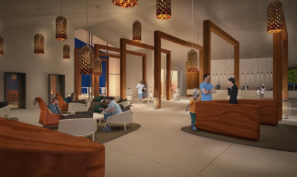 Na primeira fase, o resort abre com 212 apartamentos