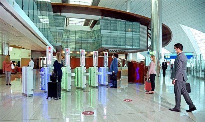 O caminho biométrico integrado reduz interações humanas em todo o processo de viagem