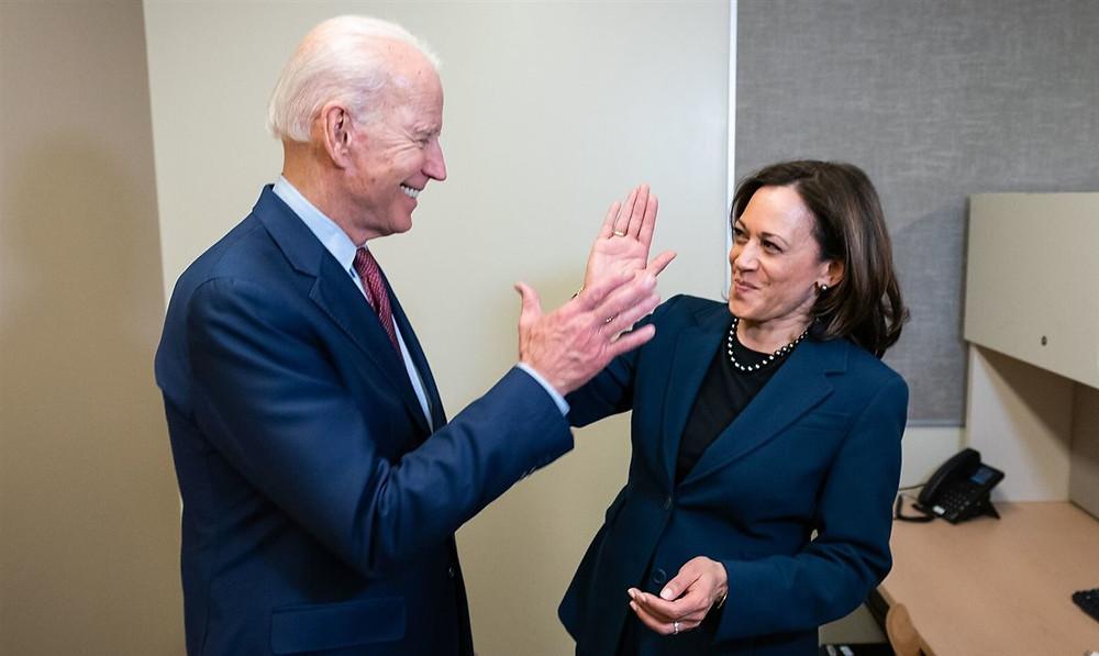 Joe Biden e Kamala Harris, presidente e vice-presidente eleitos dos Estados Unidos