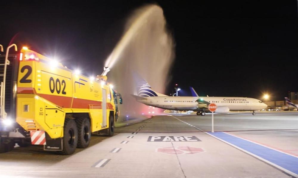 Os voos vindos da Cidade do Panamá terão três frequências semanais