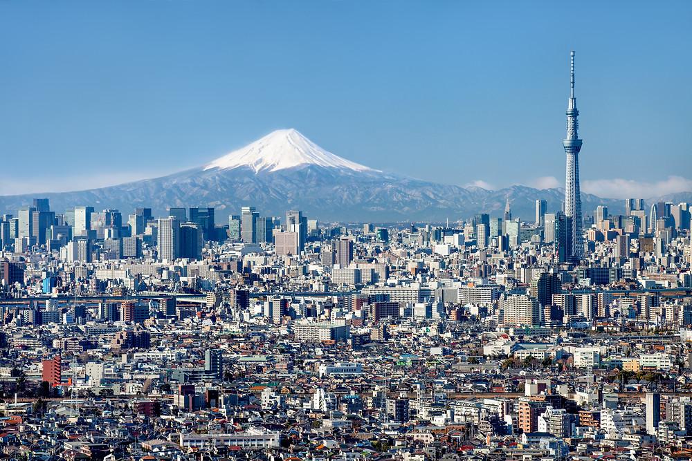 Tokyo Skytree e Monte Fuji