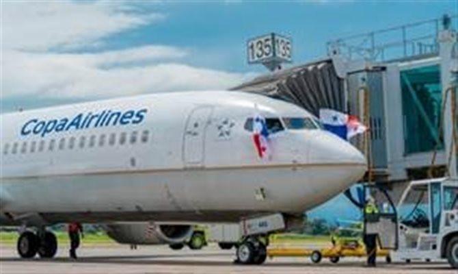 Um voo da Copa Airlines com 35 passageiros foi o primeiro a chegar no Panamá