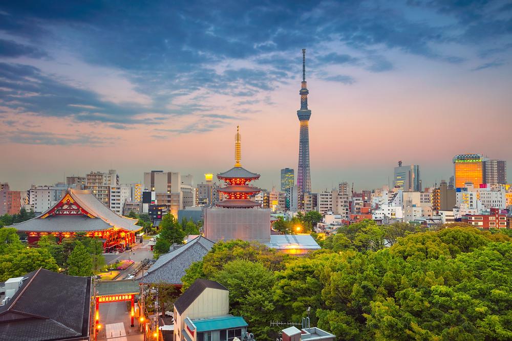 Contrastes de Tóquio Japão
