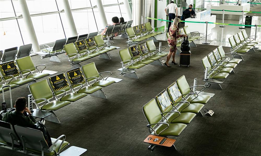 Com novos protocolos de higienização, o Aeroporto de Brasília atende 45 municípios do Brasil e dois destinos no exterior