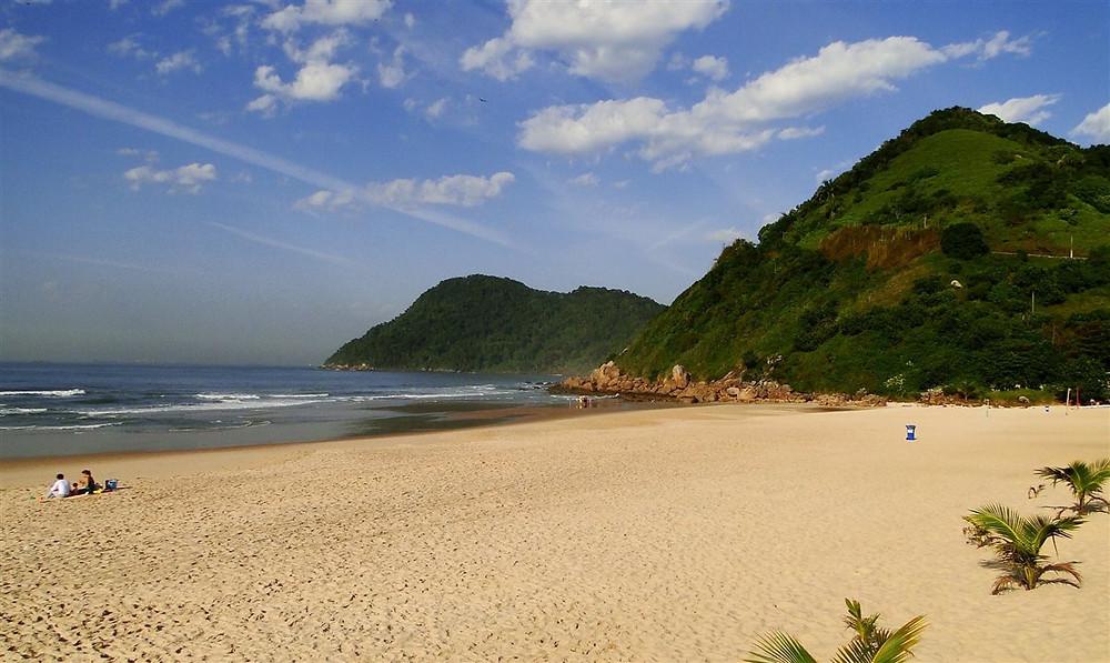 Praia do Tombo, em Guarujá (SP)