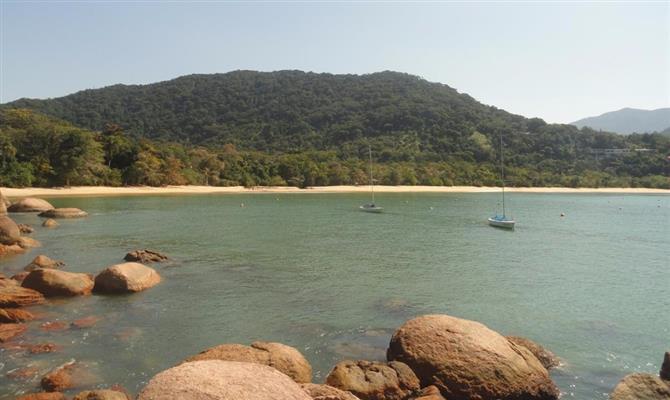 Praia Vermelha, uma das mais conhecidas de Ubatuba (SP)