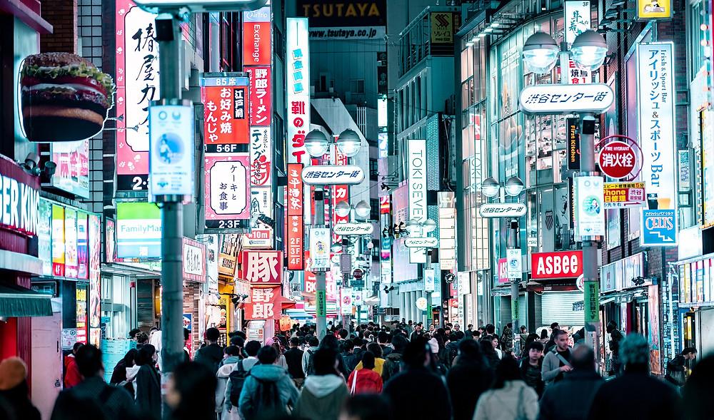Região de Shibuya em Tokyo no Japão
