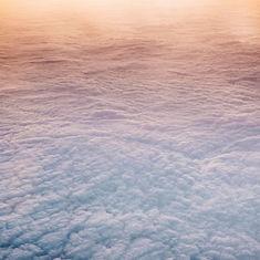 Vista aérea das nuvens