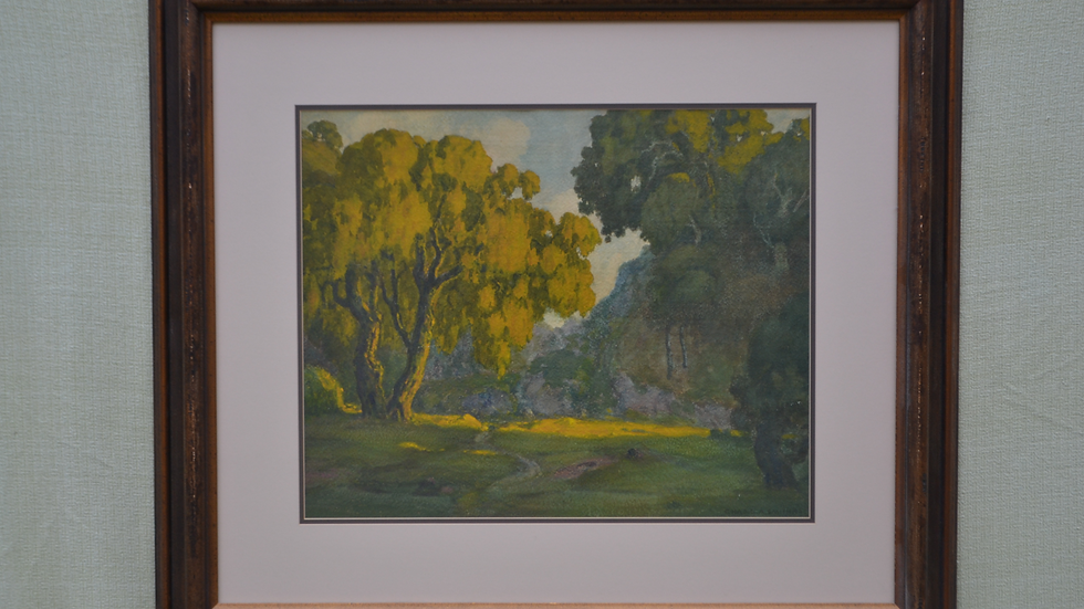 Watercolor, California Landscape by Charles L. A. Smith
