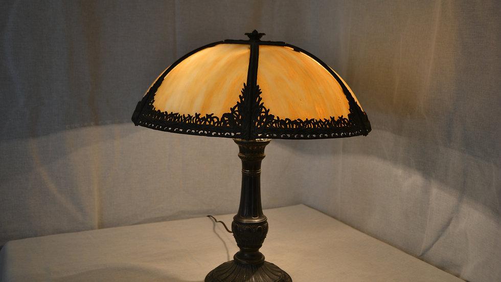 Miller curved glass Art Nouveau lamp.