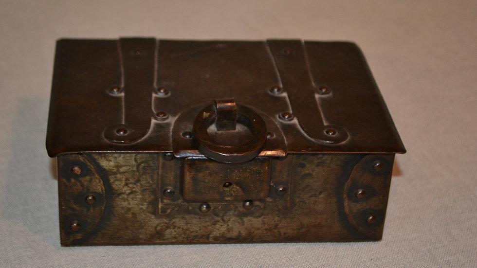 Arts and Crafts Hammered iron box.