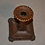 Thumbnail: Chamberstick, hammered copper, excellent patina  Unsigned