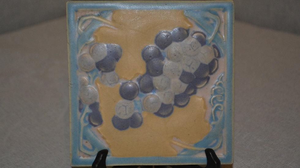 Rookwood Trivet, grape motif
