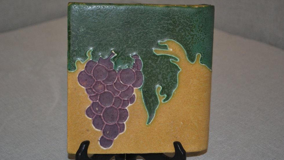 Owens bullnose tile.  Grape motif